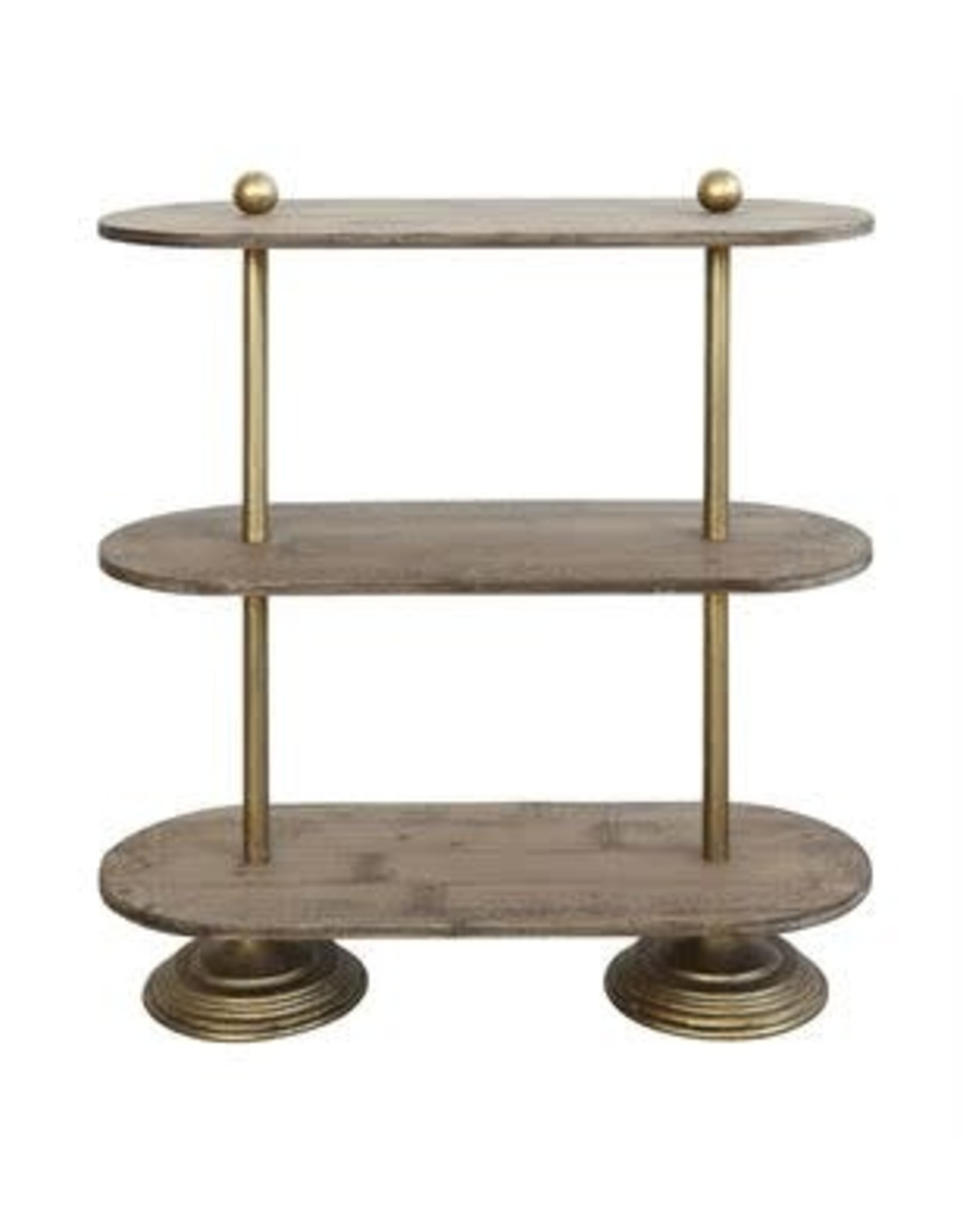 Metal & Wood 3-Tier Shelf