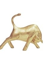 Bull Figure in Gold Leaf