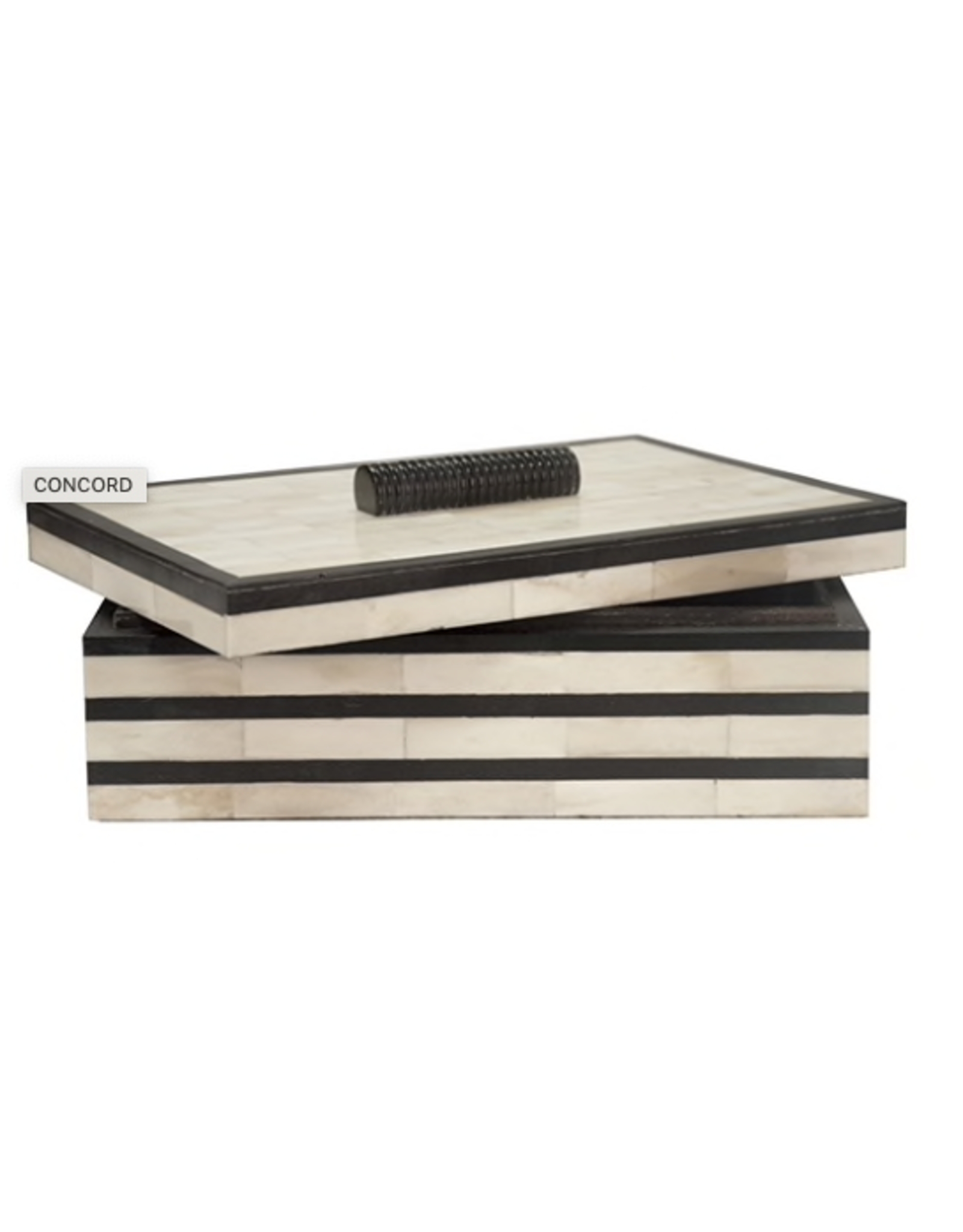 Concord Natural Bone Box w/ Black Stripes