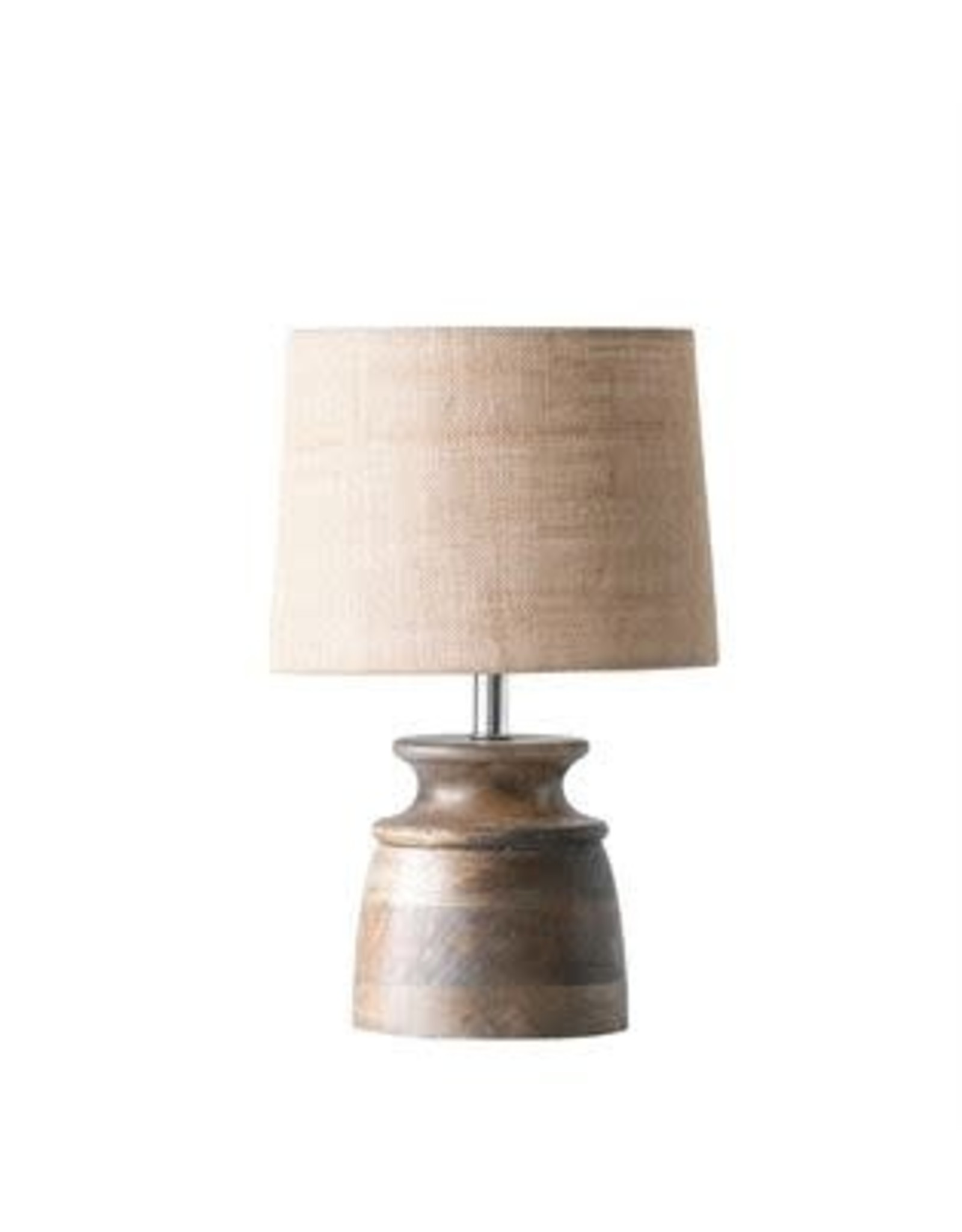 Wood Table Lamp w/ Jute Shade