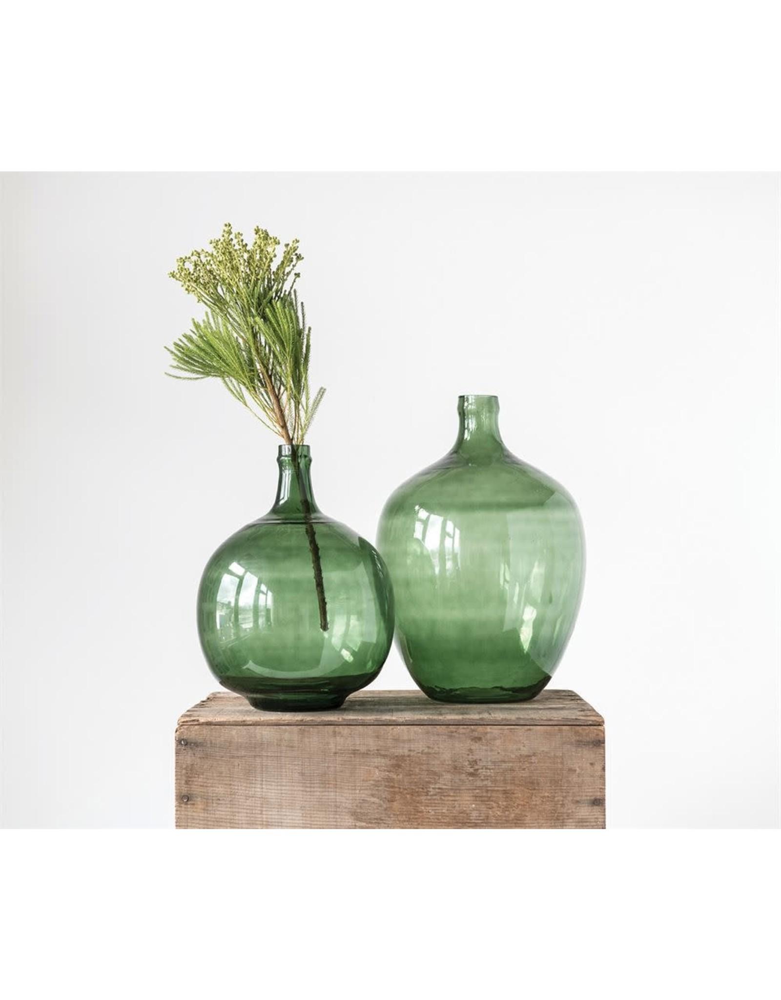 Vintage Reproduction Glass Bottle, Green