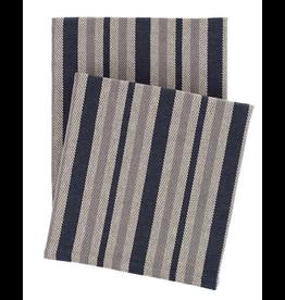 Herringbone Stripe Woven Cotton Throw
