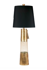 Maya Table Lamp - Gold Glass