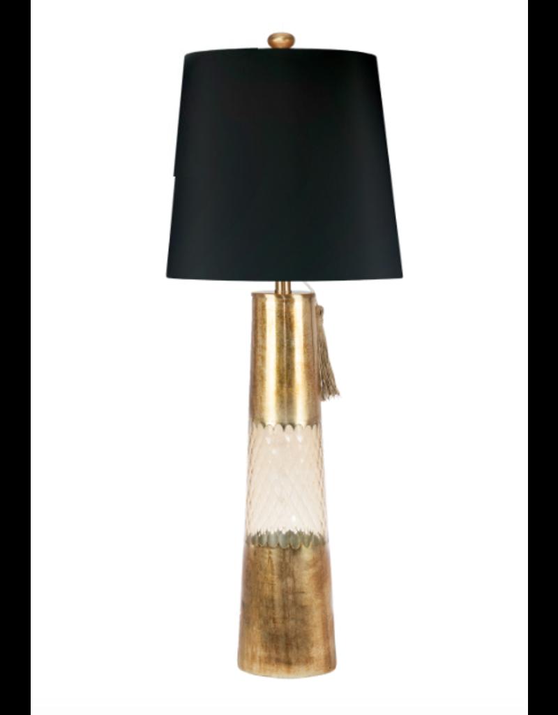 Maya Table Lamp - Gold Glass