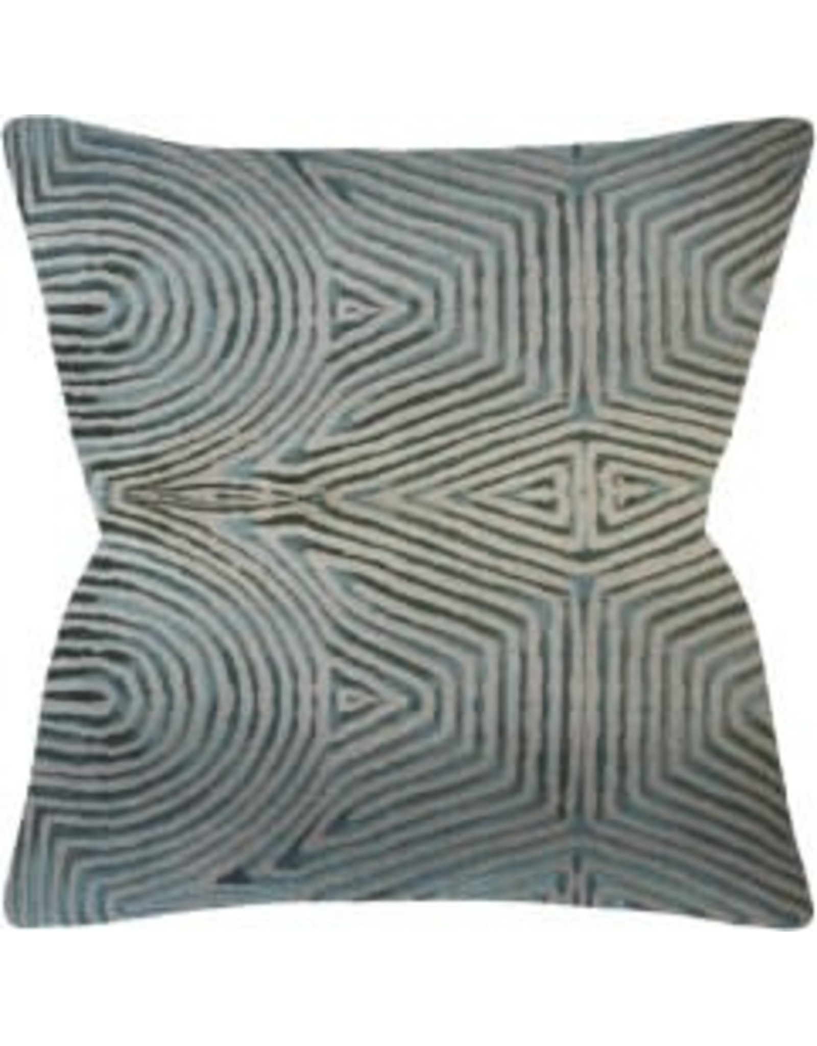 Pravam Flax/Jade Pillow 14x20""