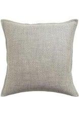 """Kumano Weave Onyx Linen Pillow 22"""""""
