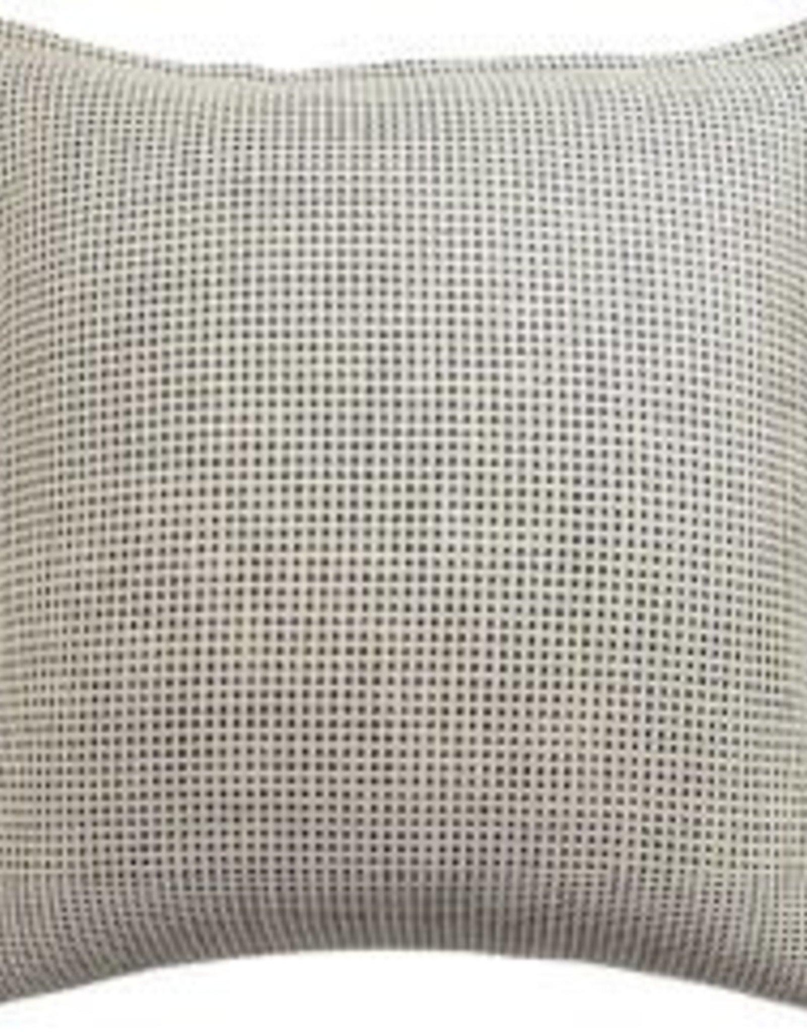 """Kumano Weave Ivory/Onyx Pillow 22"""""""