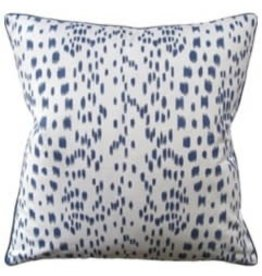 Les Touches Blue Pillow 22""