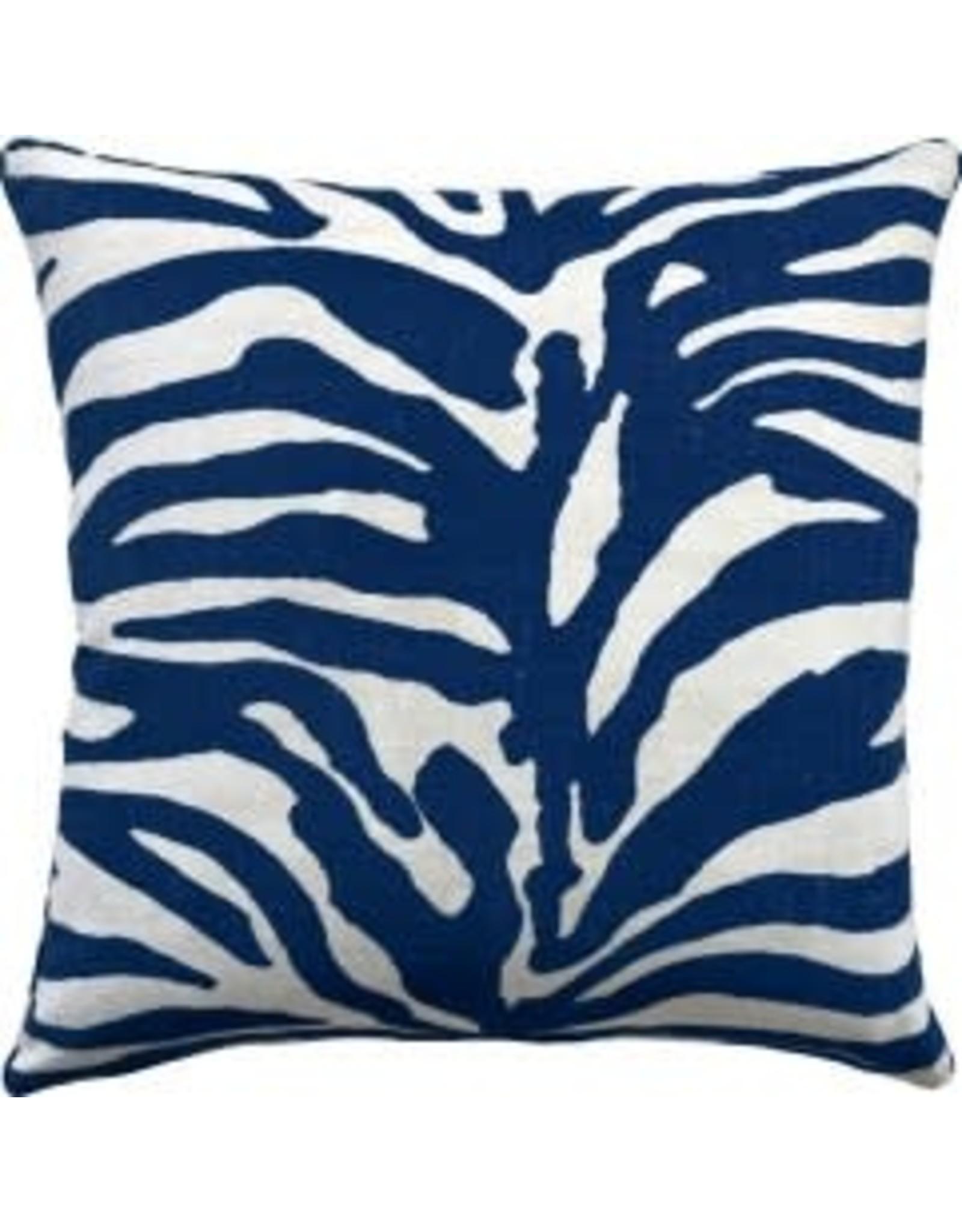 """Serengeti Navy Pillow 22"""""""