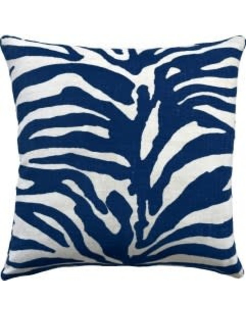 Serengeti Navy Pillow 22""