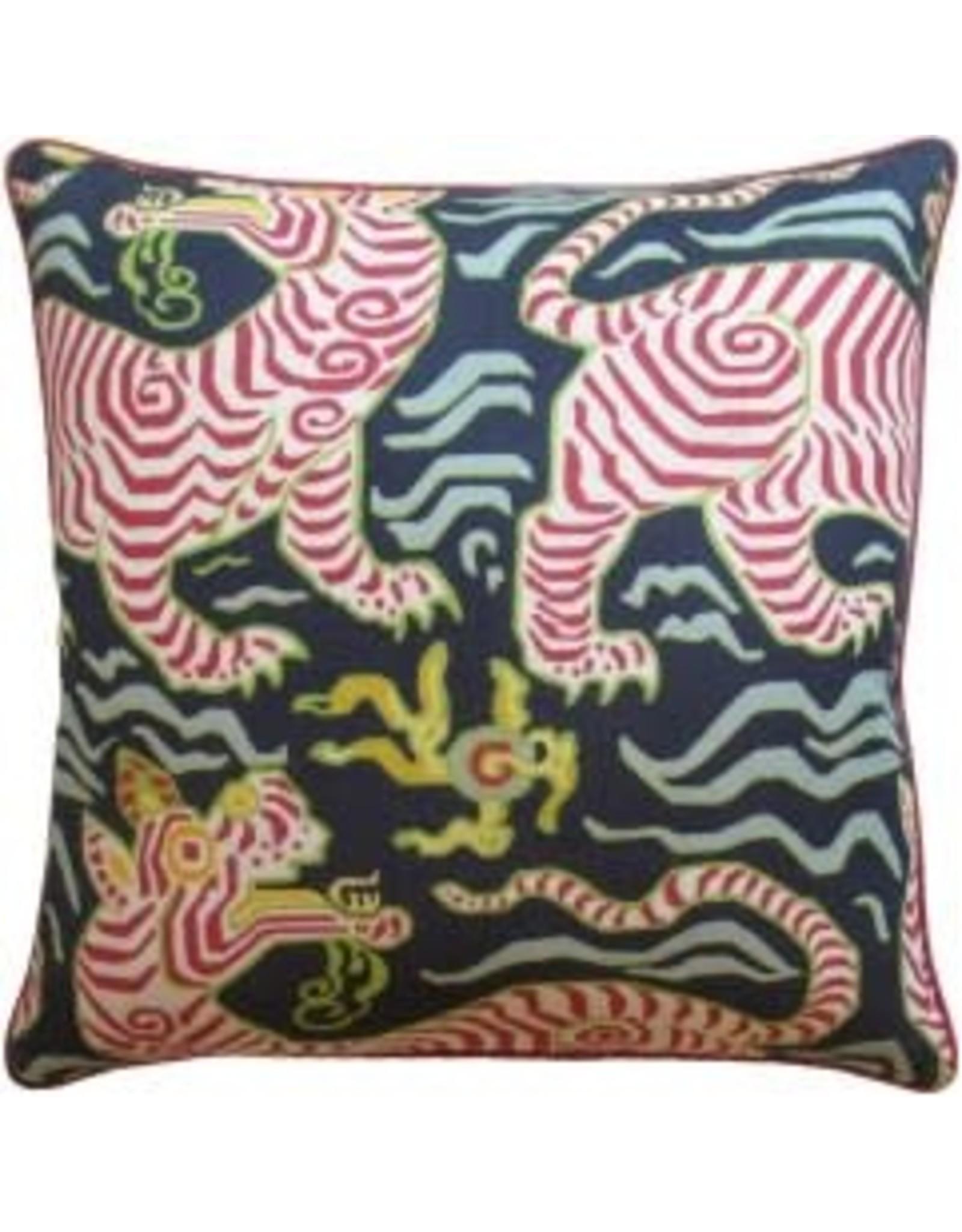 "Website Tibet Navy Pillow 22"""