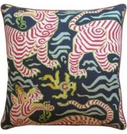 Tibet Navy Pillow 22""