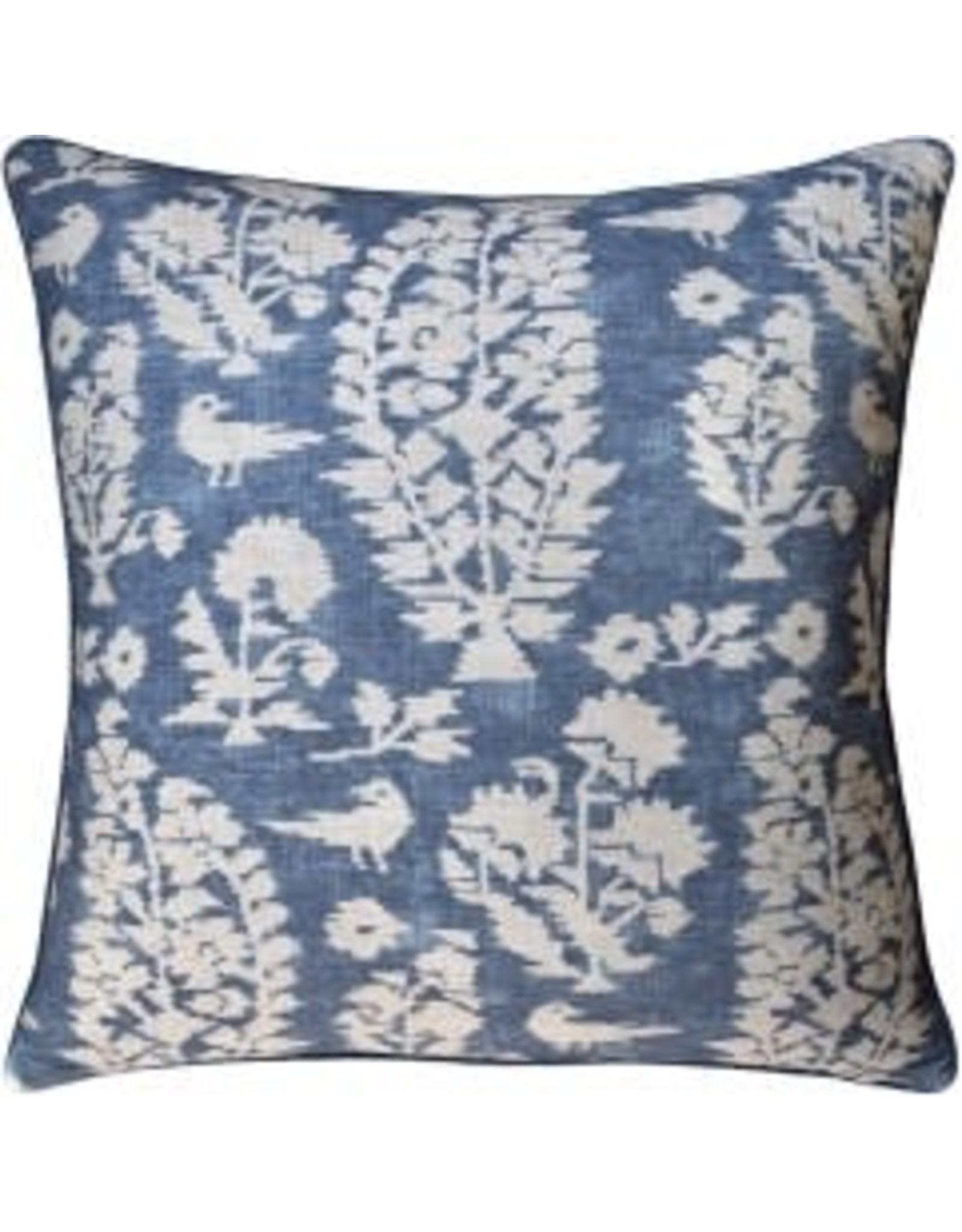"Allaire Slate Blue Pillow 22"""