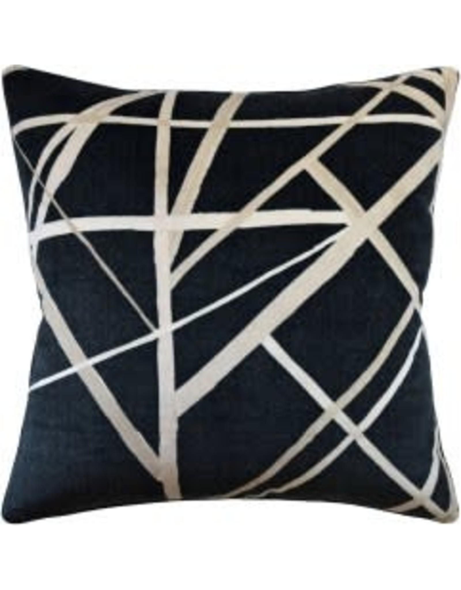 """Website Channels Ebony Pillow 22"""""""