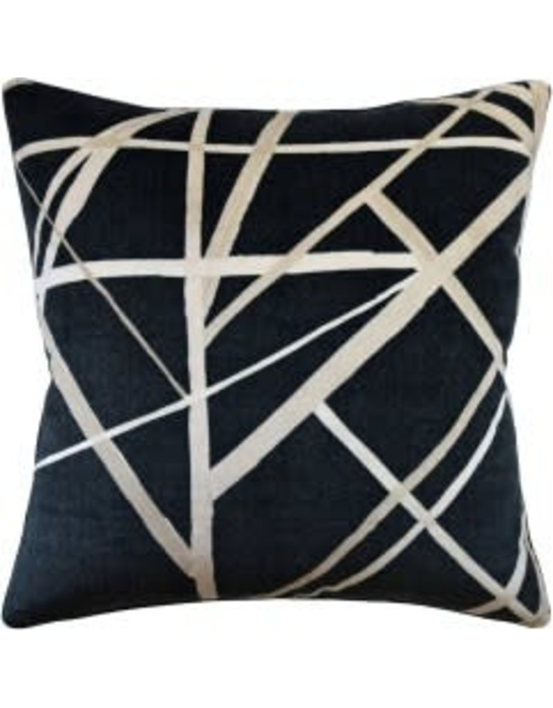 Channels Ebony Pillow 22""