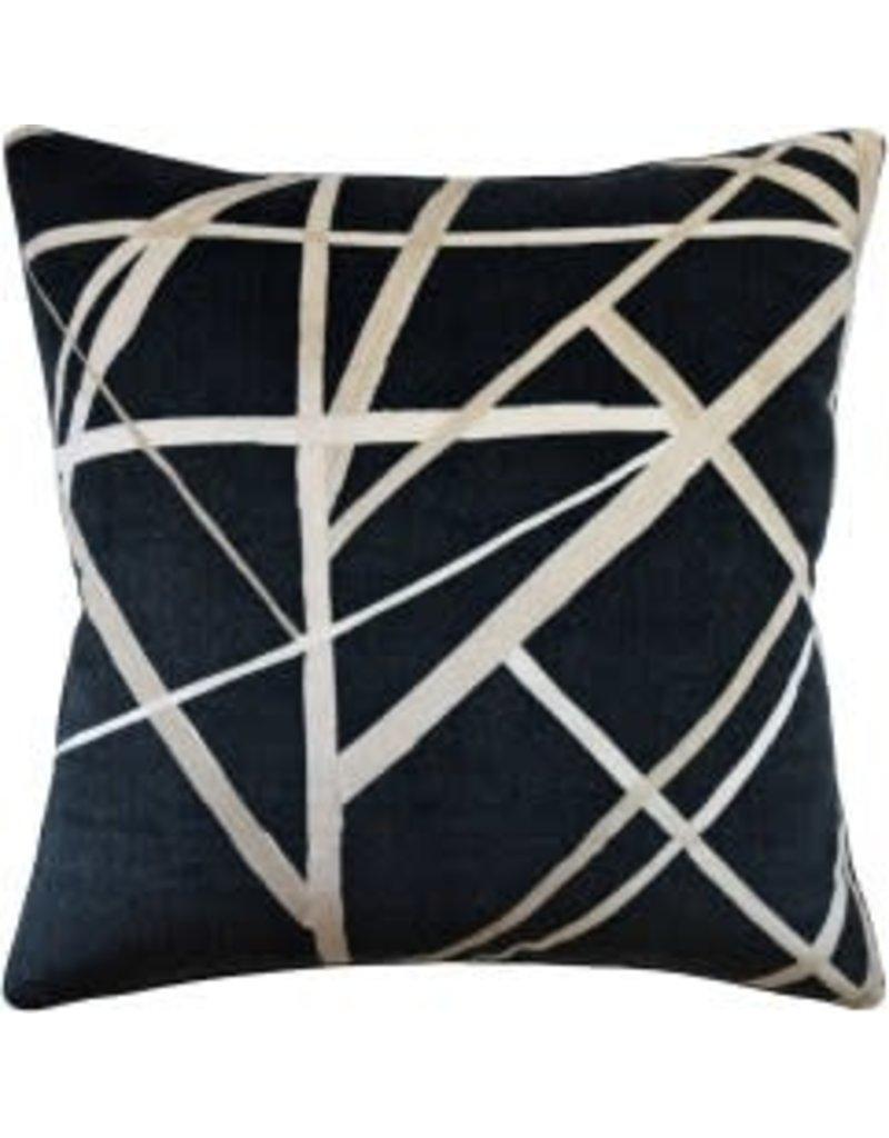 """Channels Ebony Pillow 22"""""""