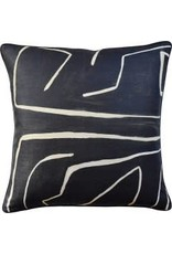 Graffito Onyx/Beige Pillow 22""
