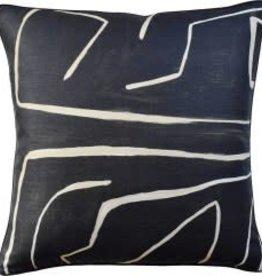 "Website Grafitto Onyx/Beige Pillow 22"""