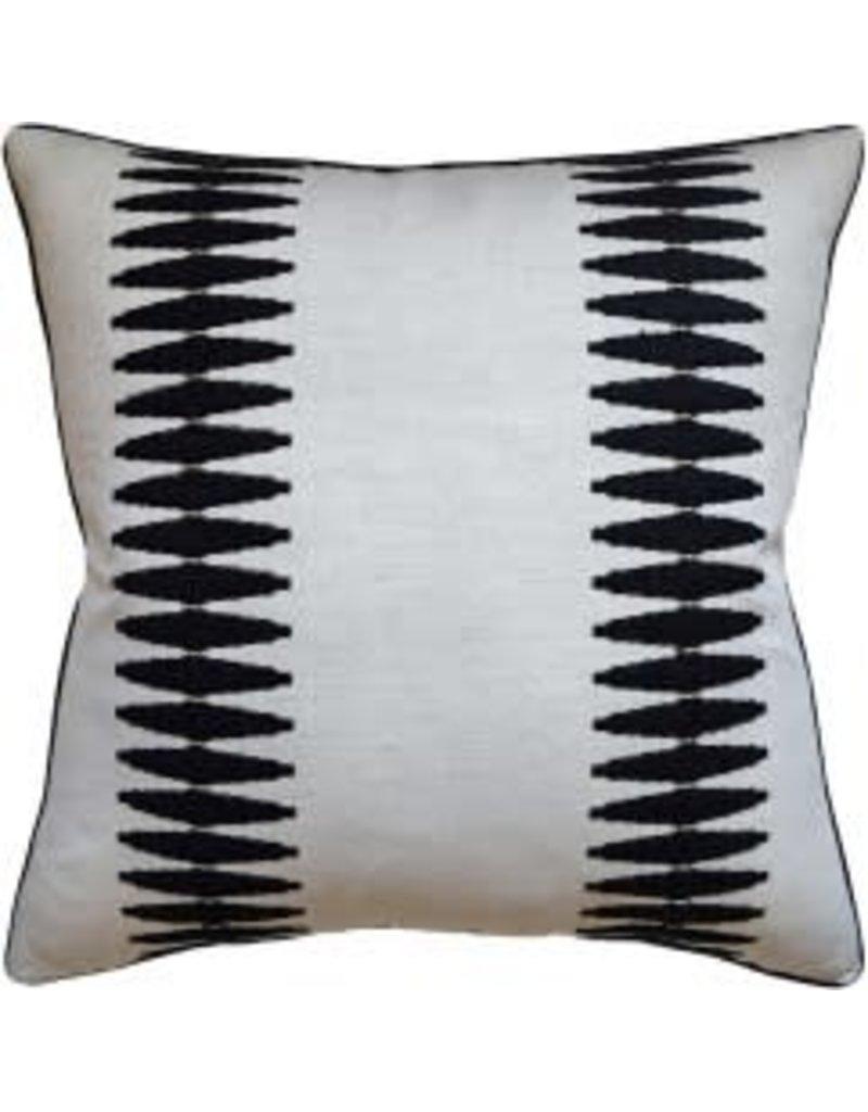 "Sabine Black Pillow 14x20"""