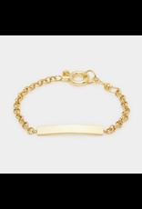 Lou Tag Bracelet - gold