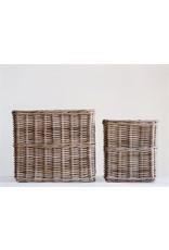 Square Natural Rattan Basket - small