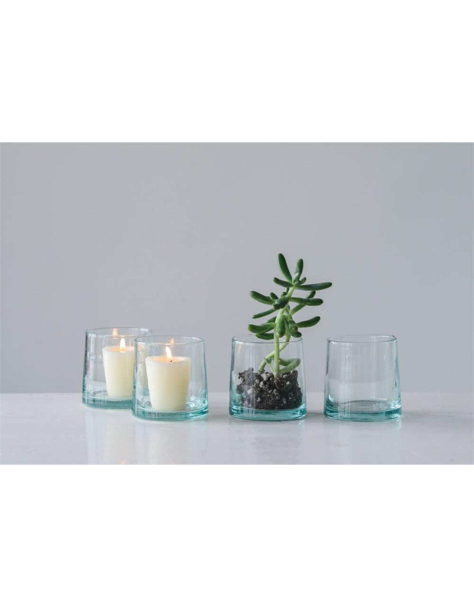 Hand Blown Drinking Glass/Tealight Holder
