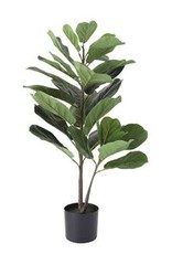 """Faux Fiddle Fig Leaf Plant in Pot 36"""""""