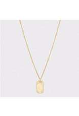 Griffin Dog Tag Necklace - gold