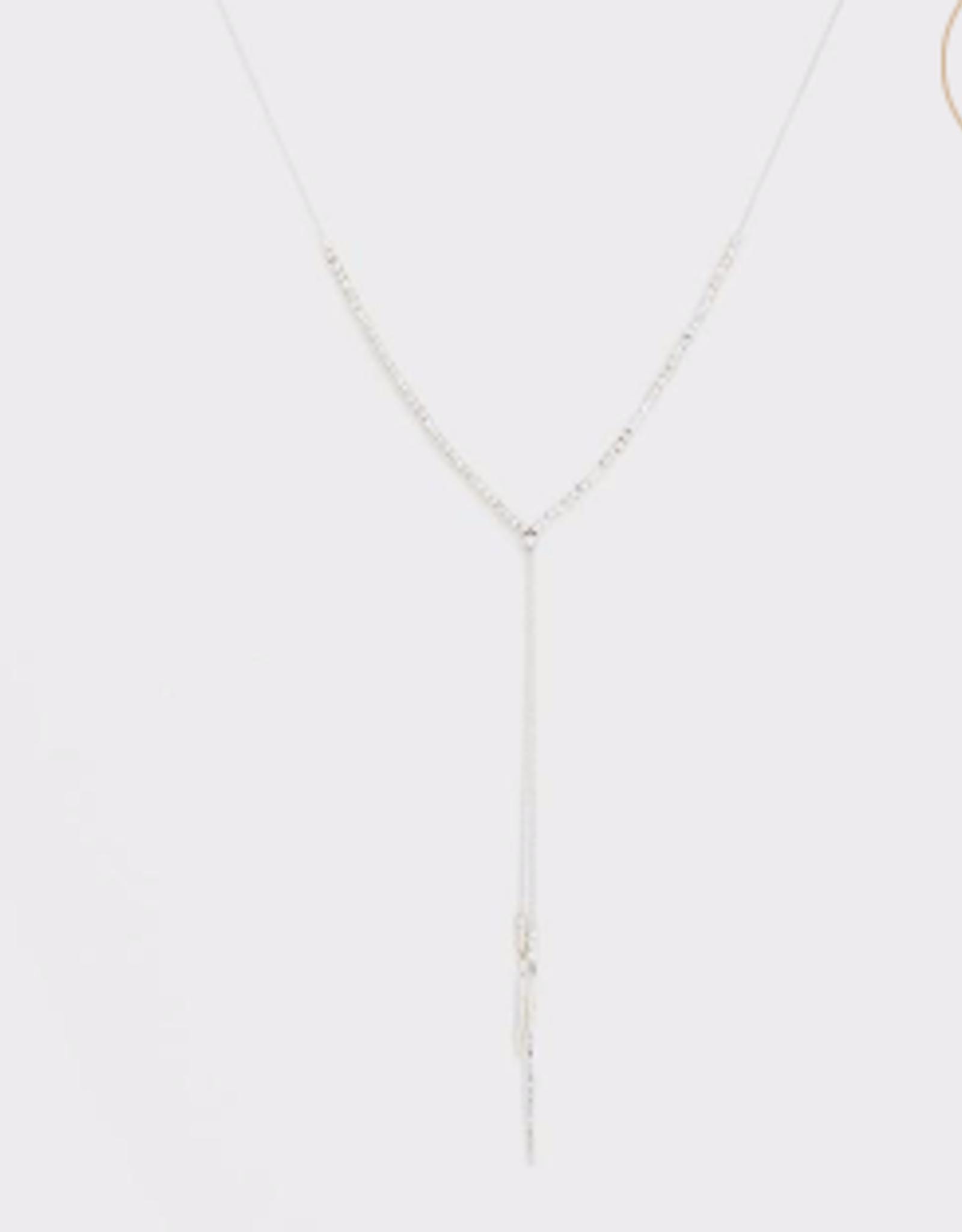 Website Laguna Adjustable Necklace - silver