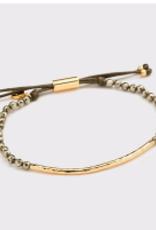 Website Power Gemstone Bracelet for Strength - gold