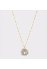 Lightning Coin Necklace - gold