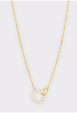 Website Balboa Shimmer Interlocking Necklace - gold