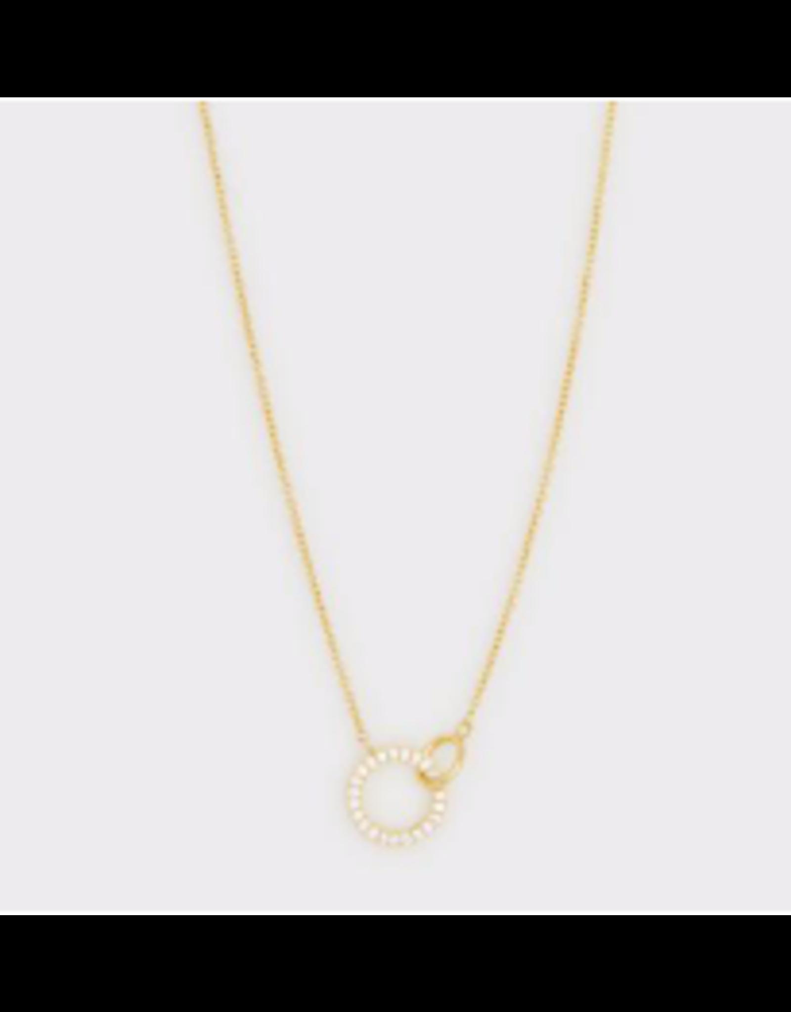 Balboa Shimmer Interlocking Necklace - gold