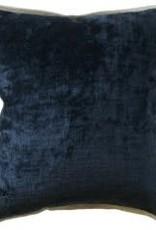 "Website Umbria Linen Flange Dark Indigo Pillow 22"""