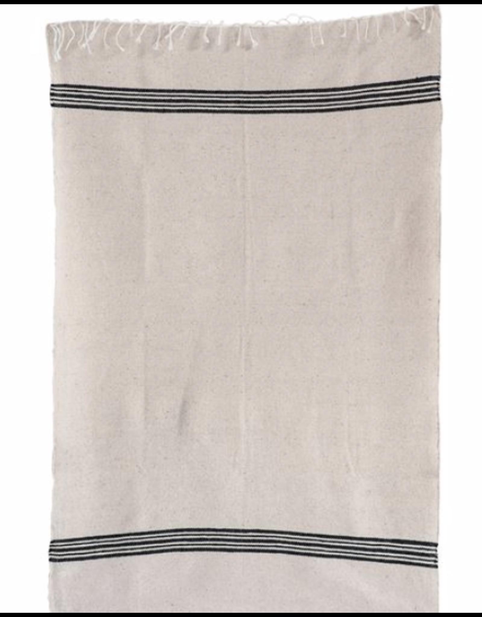 Hand-Loomed Cotton Hand Towel w/ Fringe