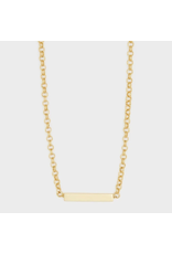 Lou Tag Necklace - gold
