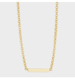 Website Lou Tag Necklace - gold