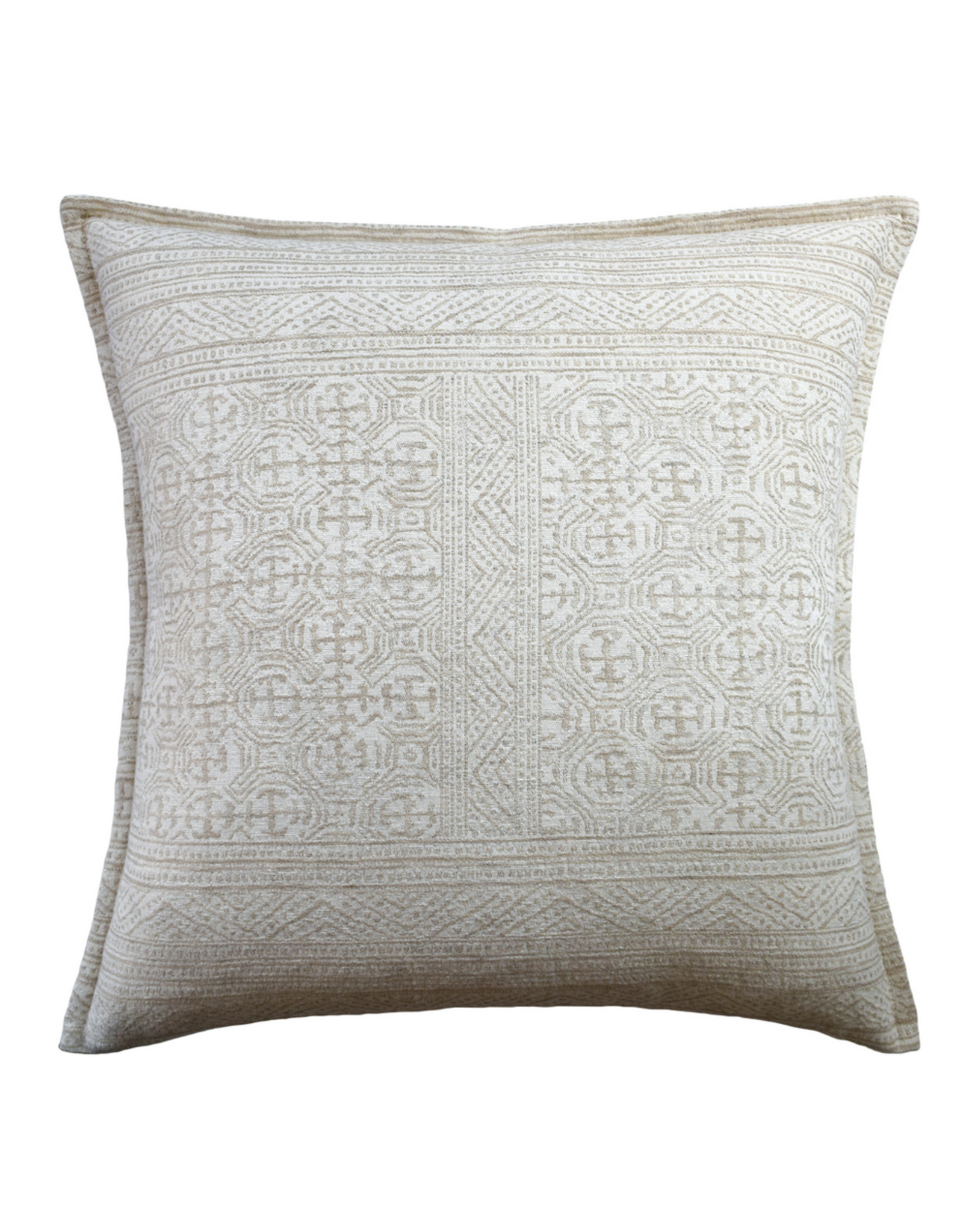 Montecito Beige Pillow 22""