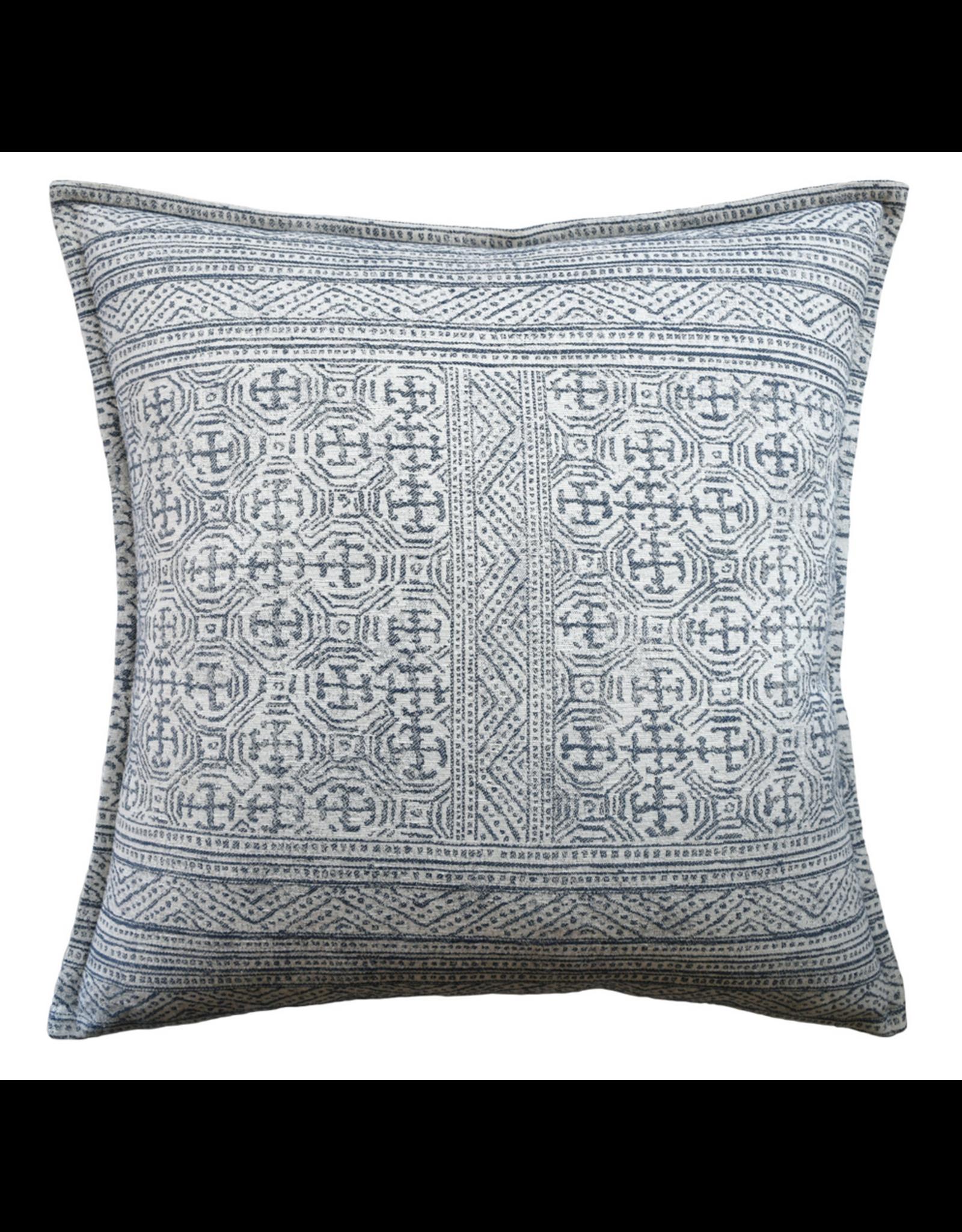 "Montecito Navy Pillow 22"""