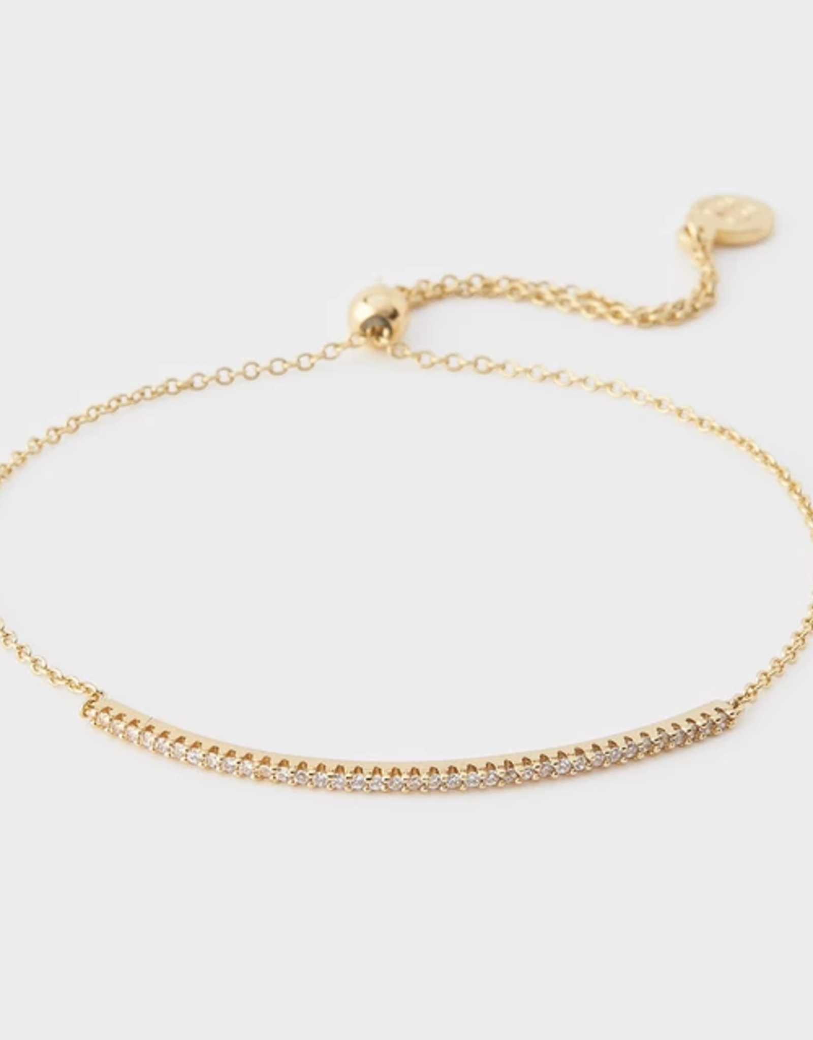Website Shimmer Adjustable Bracelet - gold