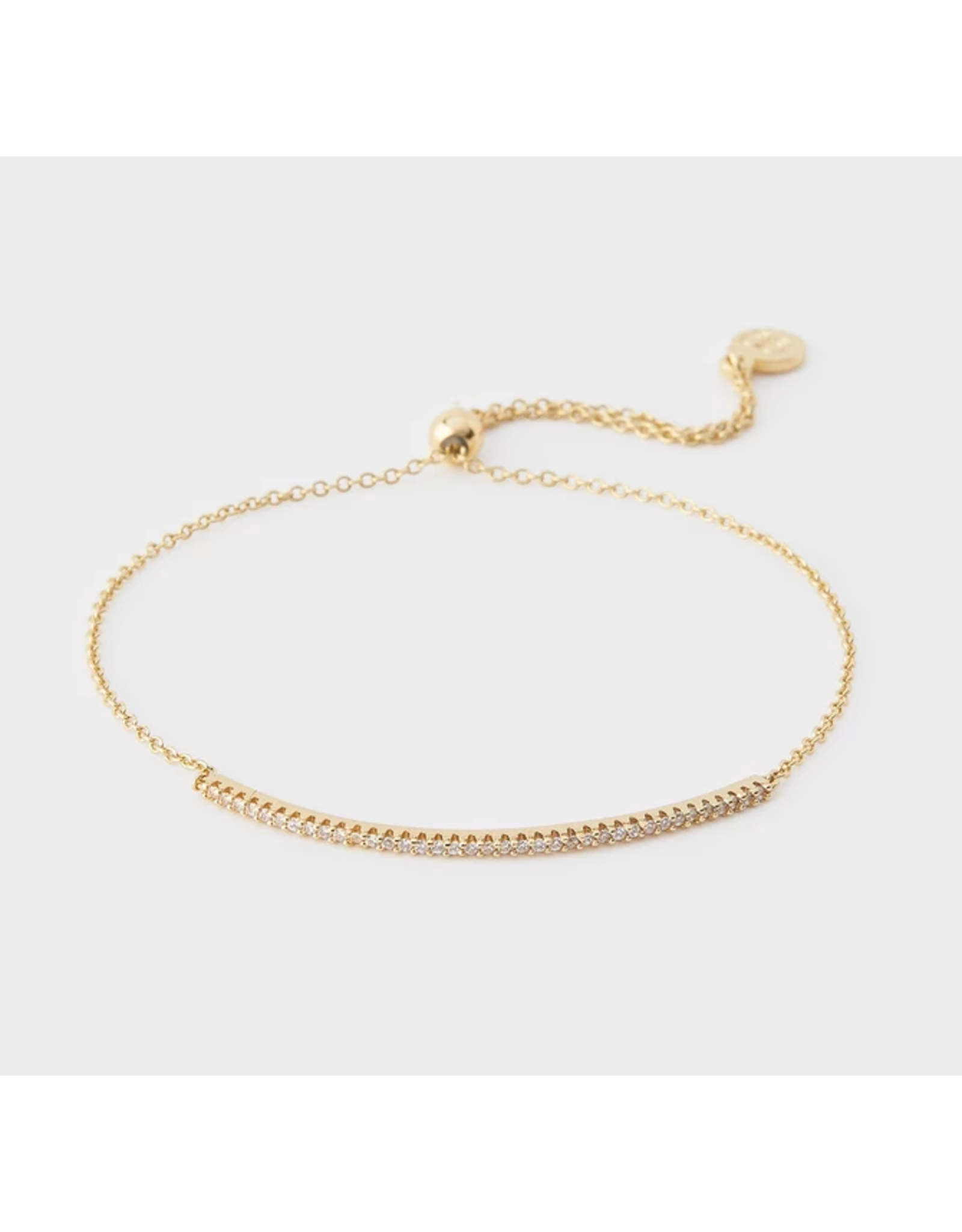 Shimmer Adjustable Bracelet - gold