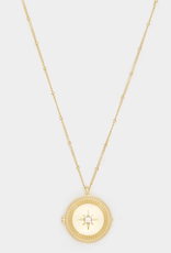 Website Stellar Locket Necklace in Gold