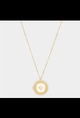 Stellar Locket Necklace - gold