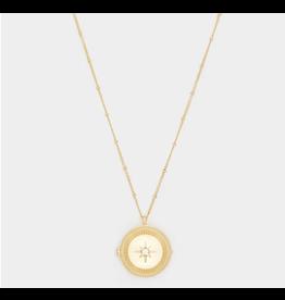 Stellar Locket Necklace in Gold
