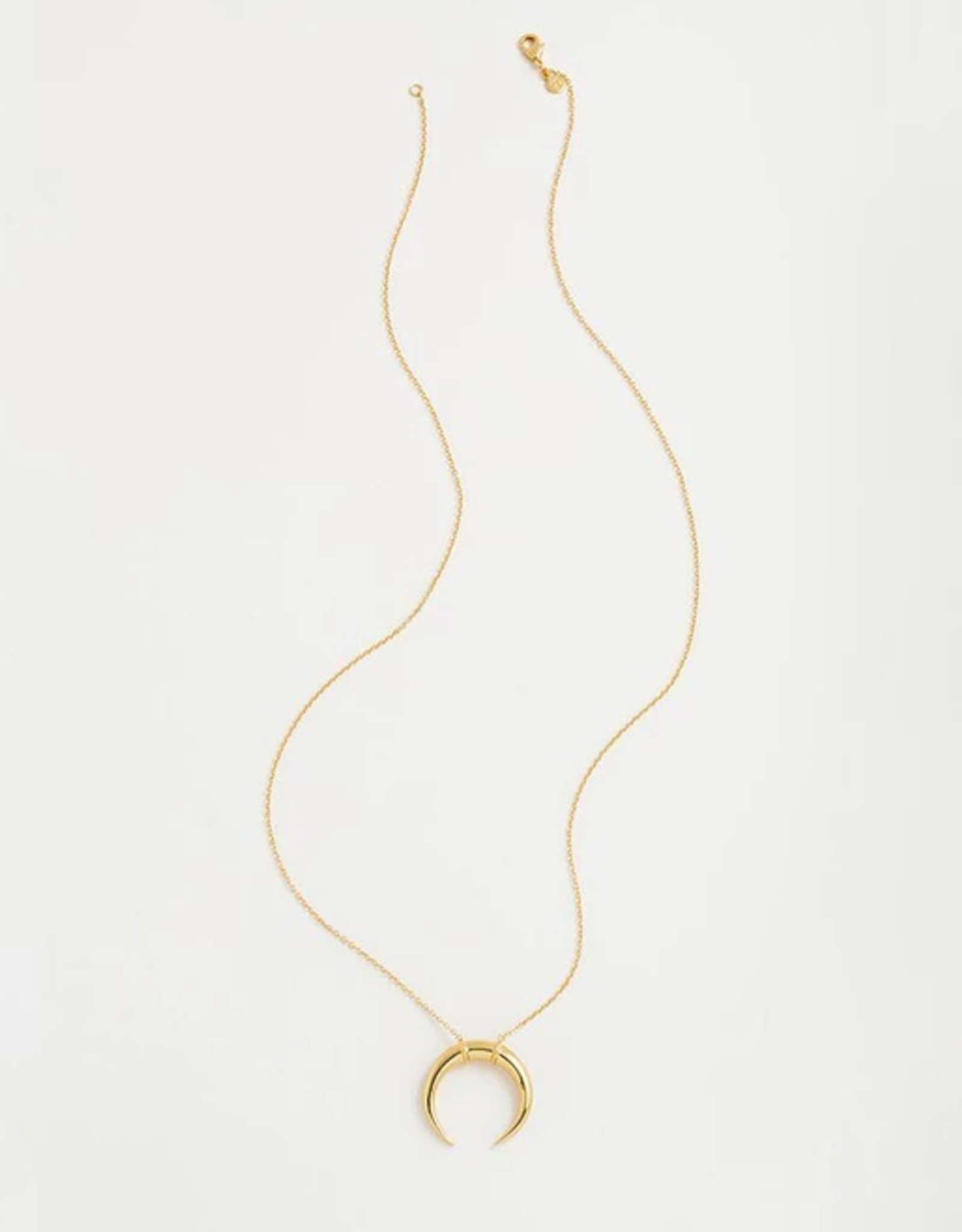 Website Cayne Crescent Pendant Necklace - gold