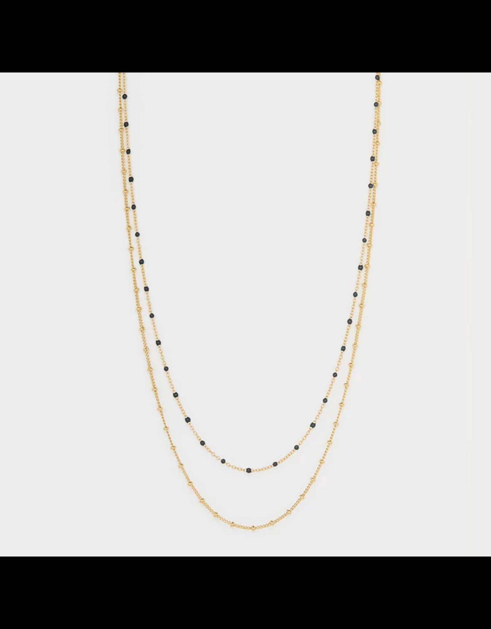 Capri Layered Necklace - black enamel