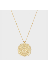 Mosaic Coin Necklace - gold
