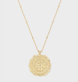 Website Mosaic Coin Necklace - gold