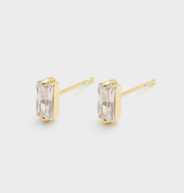 Website Amara Solitaire Studs - gold