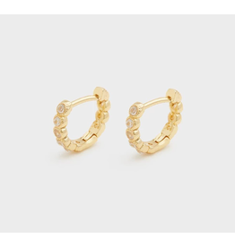 Madison Shimmer Huggies - gold
